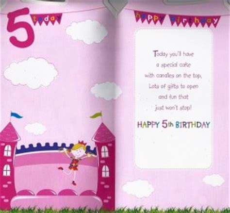 Happy 5th Birthday Wishes Happy 5th Birthday Quotes For Girls Quotesgram