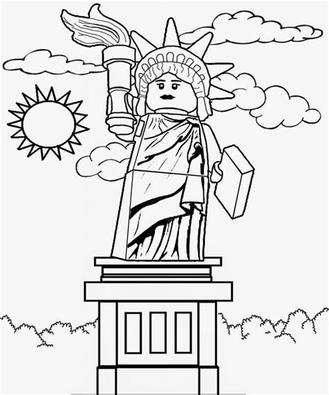 statue of liberty coloring page lego coloring pages best coloring pages for