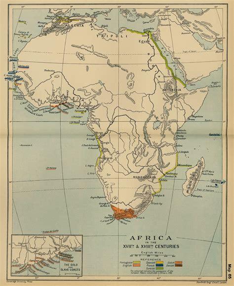 africa map 1800 cambridge modern history atlas 1912 perry casta 241 eda map