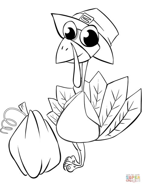 thanksgiving pumpkins coloring pages thanksgiving turkey with pumpkin coloring page free