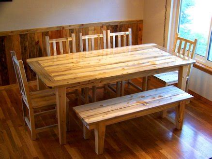 pine kitchen table and benches beetle kill pine dining set table chairs bench nicole