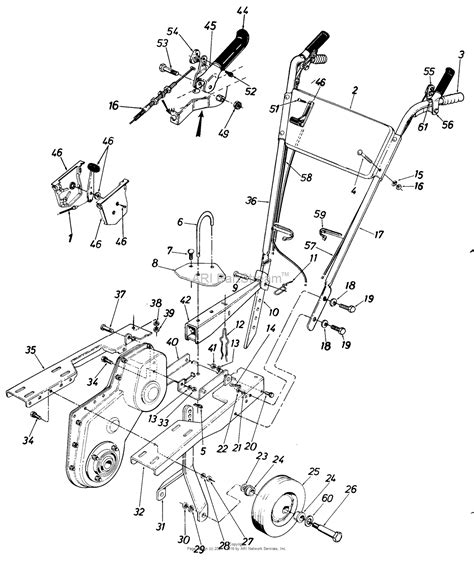 craftsman tiller parts diagram mtd craftsman mdl 247 298620 210 381 099 parts diagram
