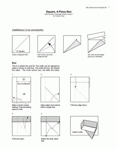 Origami Boxes Diagrams - origami diagrams featured in paper unlimited paper unlimited