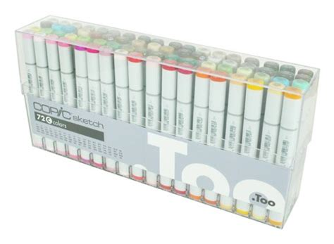 Copic Set 72 Sketch A copic sketch marker 72 color set c