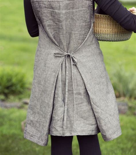 womens  ebony linen tie  smock dress wrap dress