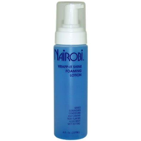 nairobi hair products review nairobi wrapp it shine foaming lotion 8 ounce nairobi
