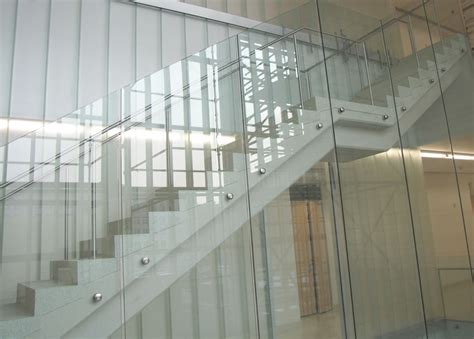 glass banister cost glass railing gallery modern glass designs