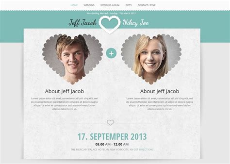 create wedding invitation website beautiful collection of wedding themes to create