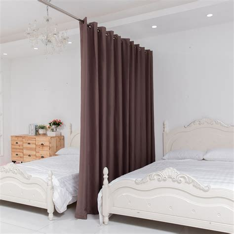 room curtain rods allzone room divider tension curtain rod 124 140 inch no drilling never ebay