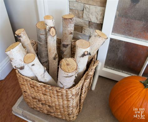 decorating with birch logs fall home tour part 2 in my own style
