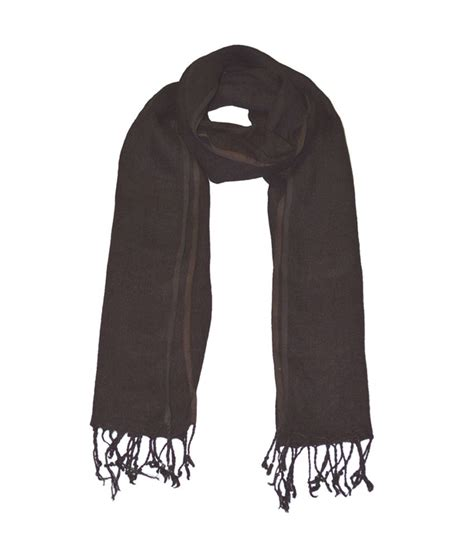 She Scarf she dezires brown linen scarf buy at low price in