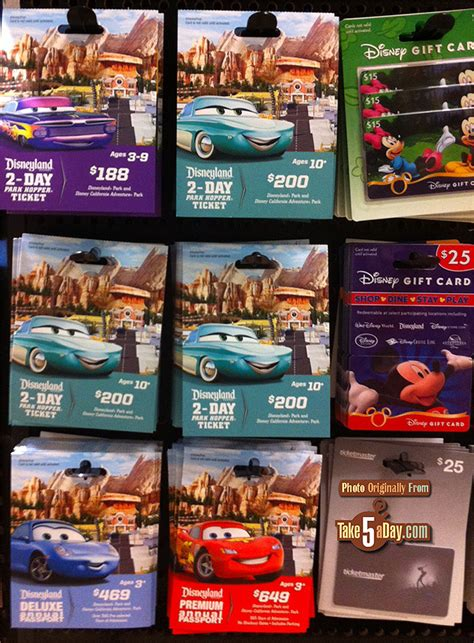 Safeway Disneyland Gift Cards - disneyland california adventures best deal this summer take five a day