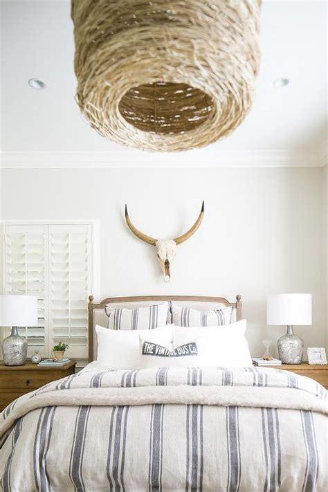 Blue Striped Vintage Grain Sack Duvet Design Ideas Wood Wallpaper Bedroom