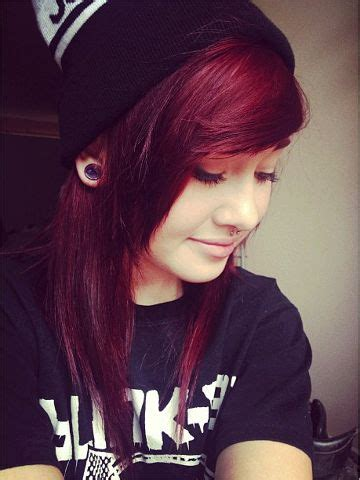 emo hairstyles burgundy 12 best black white and purple hair images on pinterest