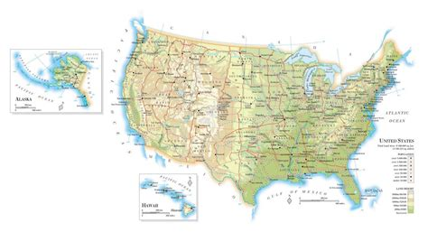 major airports in usa map large elevation map of the usa with roads major cities