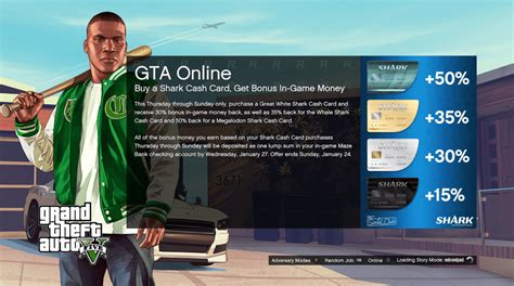 Cash In Gift Card Online - gta online shark cards give more in game cash gta 5 cheats