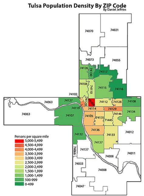 tulsa zip code map city of tulsa population density by zip code flickr photo