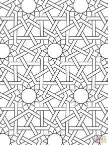 coloring sheets islamic ornament mosaic coloring page free printable