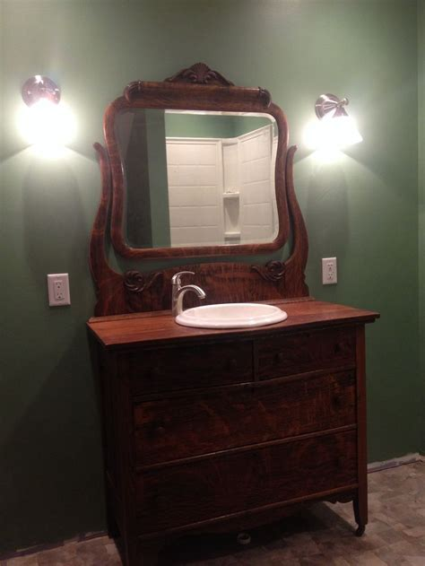 dressers as bathroom vanities antique dresser made into bathroom vanity antique
