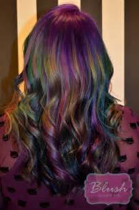 iridescent hair color new trend slick hair salon blush
