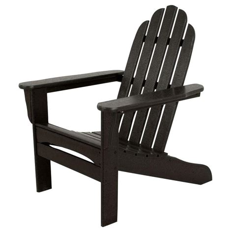 Black Resin Patio Chairs Us Leisure Fern Plastic Adirondack Chair 153853 The Home Depot