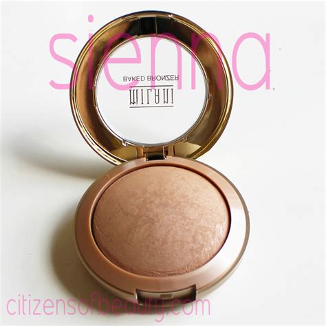 Rimmel Bronzer Limited milani baked cosmetics review bronzers and eyeshadows