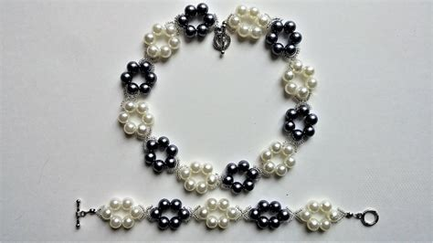 easy jewelry for beginners simple and diy pearl jewelry set beginners