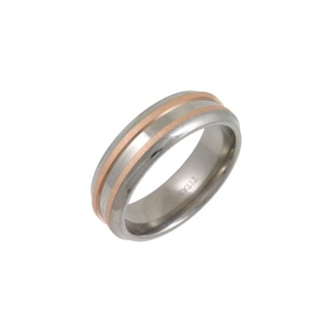 Wedding Ring Titanium by Titanium Polished Wedding Ring