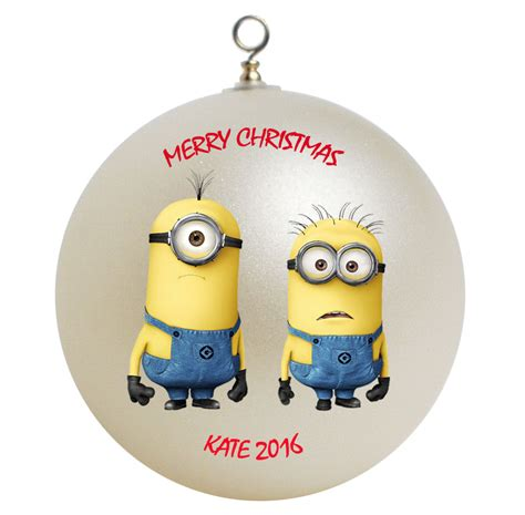 personalized despicable me minions christmas ornament gift