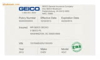 Will Car Insurance Cover Electrical Geico Insurance Card Template Stoatmusic