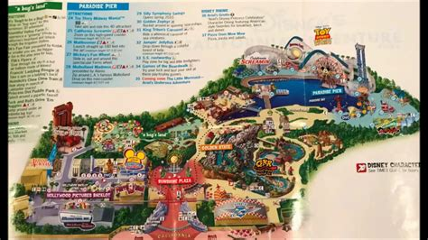 disney california adventure maps the years 1 see 2 its updated