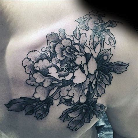 japanese peony tattoo black and grey 100 peony tattoo designs for men flower ink ideas