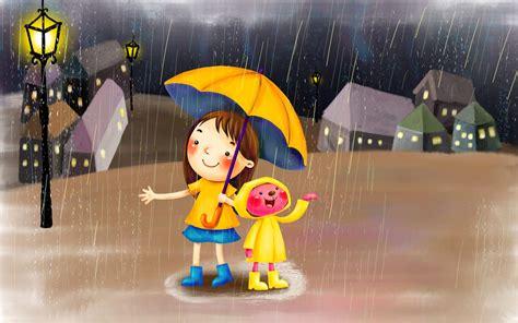 gambar kartun lucu  hujan terbaru top gambar