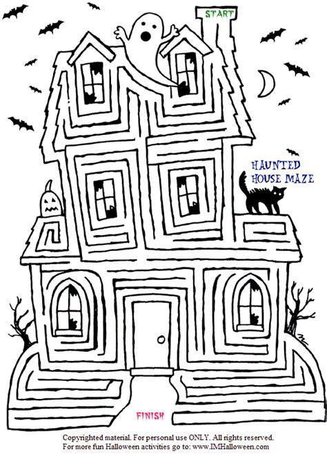 printable halloween maze difficult halloween maze printable festival collections