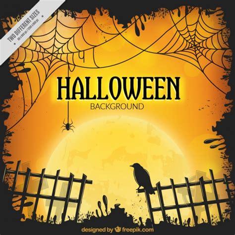 imagenes de halloween fest fundo de halloween com cerca e um corvo baixar vetores