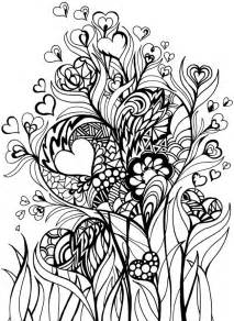 zentangle coloring pages zentangle inspired hearts and flowers doodling
