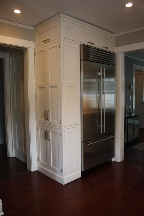 refrigerator kitchen cabinets doors beside built in fridge side cabinet fridge in