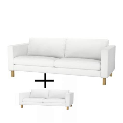 ikea karlstad sofa cover white ikea karlstad 3 seat sofa and 2 seat lovseat slipcover