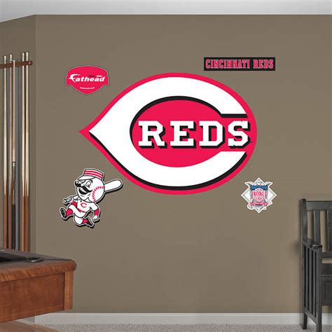 cincinnati reds home decor cincinnati reds logo wall decal shop fathead 174 for