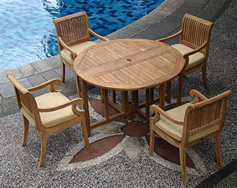 Cheap Butterfly Table And Chairs by Cheap Giva Grade A Teak Wood Luxurious 5pc Dining Set 48