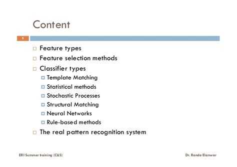 pattern recognition statistical structural and neural what is pattern recognition lecture 4 of 6