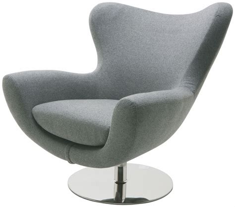 Comfy Modern by Light Grey Fabric Lounger Chair From Nuevo