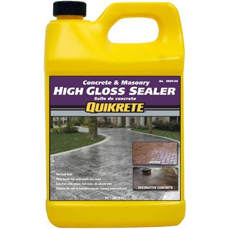 quikrete high gloss sealer wet  gal
