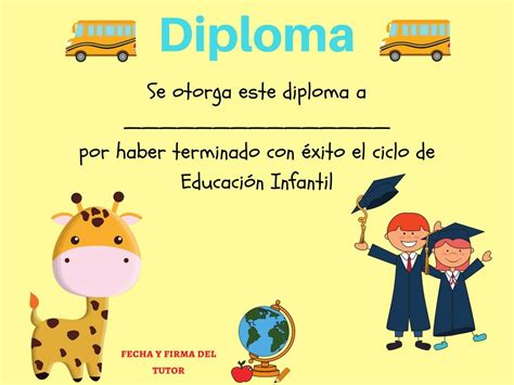 diplomas escolares infantiles para ni 241 os para imprimir y modelo de certificados para educacion inicial colecci 243
