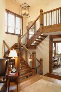 Stairs Banister Designs The Cottage Rustic Staircase Toronto By Parkyn Design