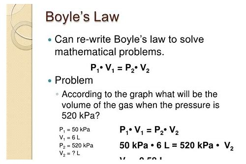 boyle's law deals with