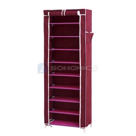 shoe storage ebay songmics shoe rack shoes cabinet stand standing storage