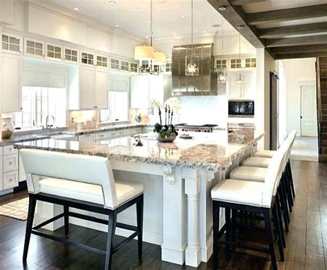 decoration large kitchen island with seating