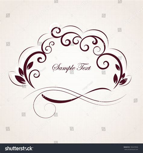 vintage floral elements for design vector stock vector vintage floral frame element design stock vector 106429946