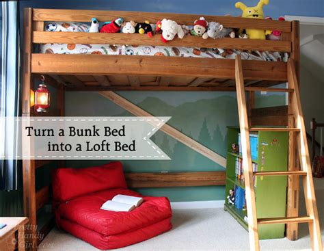 Make Bed Into by How To Turn A Bunk Bed Into A Loft Bed